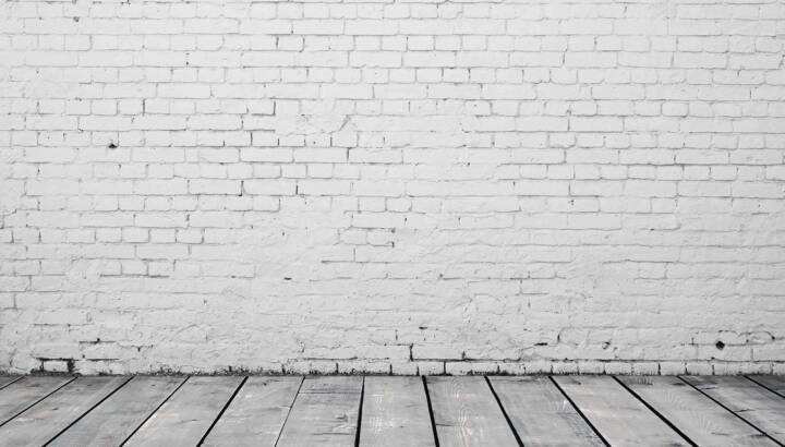 whitewash brick wall